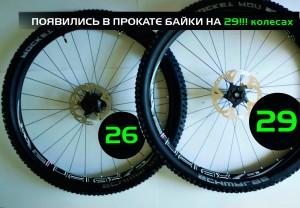 Прокат велосипедов с 29-дюймовыми колесами в Харькове