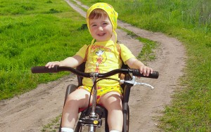 Велосипед с детским велокреслом от 1 до 2-х лет