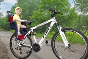 Велосипед с детским велокреслом для детей 1,5-3 года